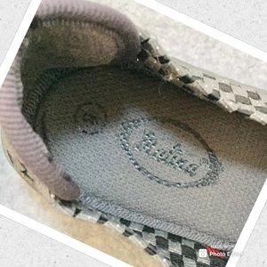 Italia Shoes - WOMENS SHOES SZ 8 ITALIA WOVEN CANVAS SLIP ON